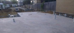 Concrete works for 3 townhouses in Strathmore